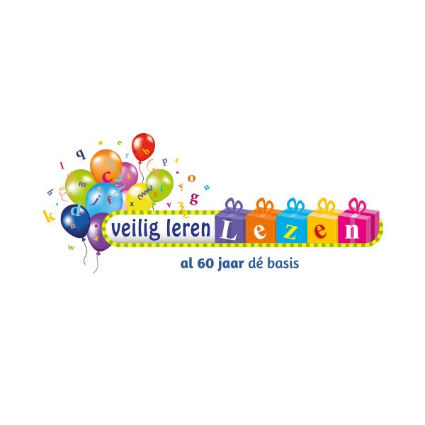 Logo voor de verjaardag van Veilig leren lezen van Zwijssen