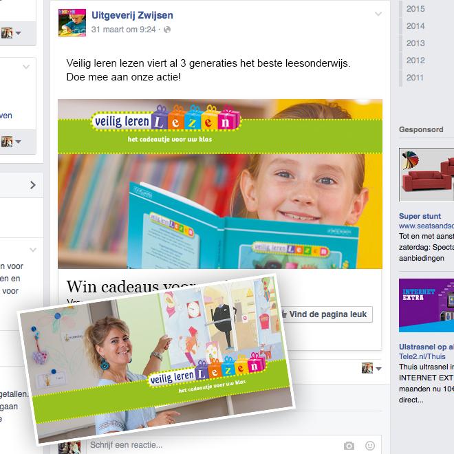 Zwijsen - veilig leren lezen - facebook advertentie