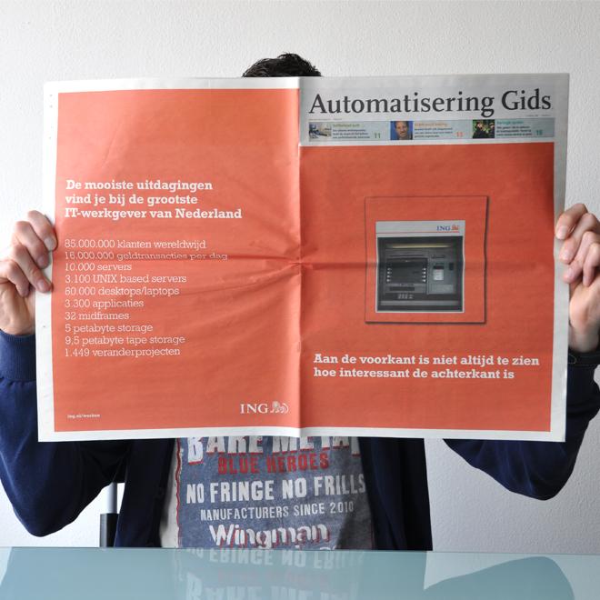ING – Diverse opdrachten – Advertentie