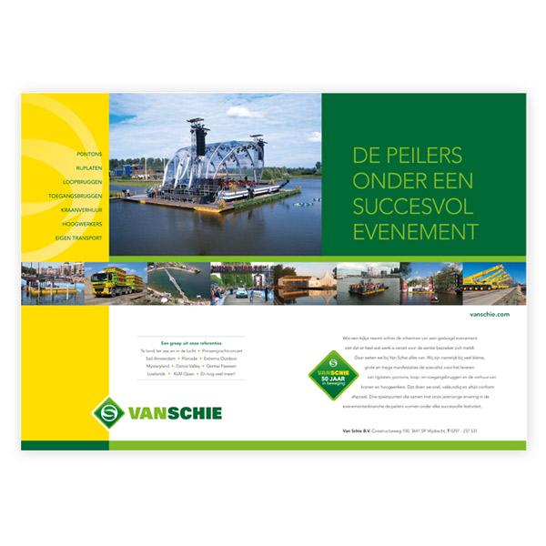 Van Schie - Huisstijl, IM's cobouw en 50 jaar van schie - Advertentie