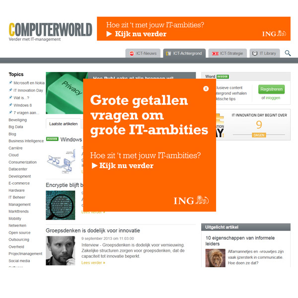 ING – IT Campagne – Bannering