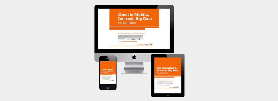 ING – IT Campagne – Webdesign