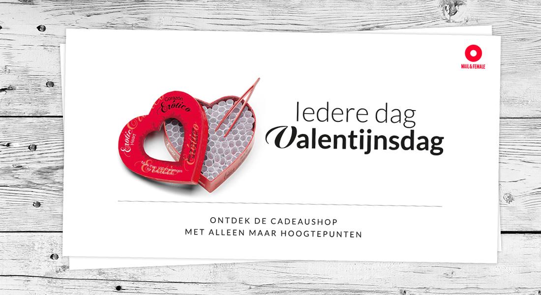 Mail en female poster valentijn