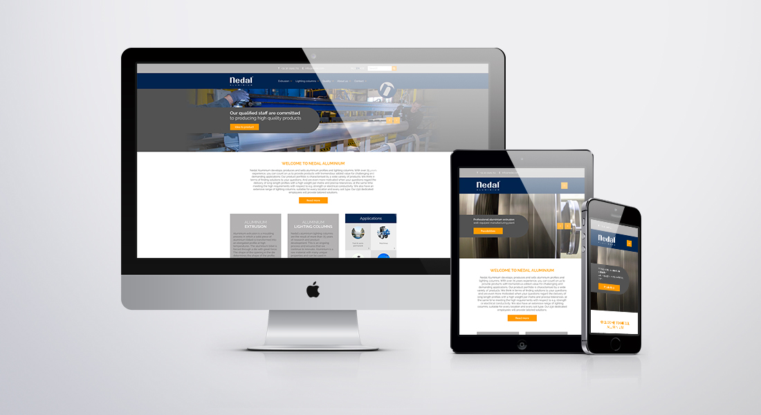 Nedal website responsive