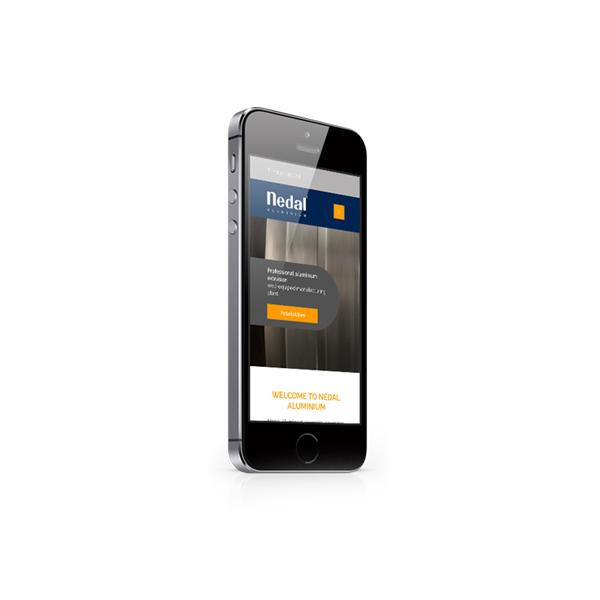 Nedal website smartphone