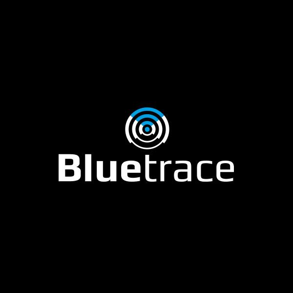 Bluetrace logo zwart