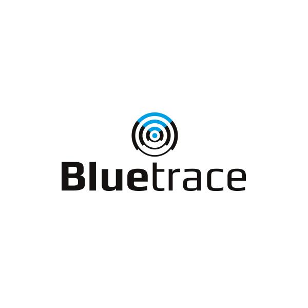 Bluetrace logo wit