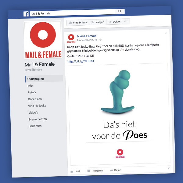mail en female facebook advertentie