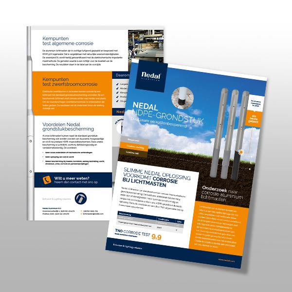 Leaflet voor Nedal over het HDPE grondstuk