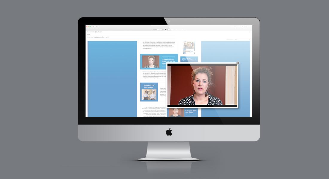 Filmpjes voor SCOL in Macbook scherm