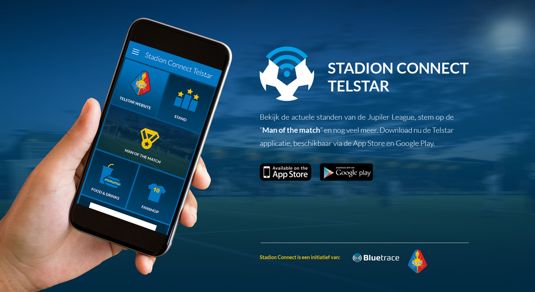 Bluetrace Telstar stadion connect page