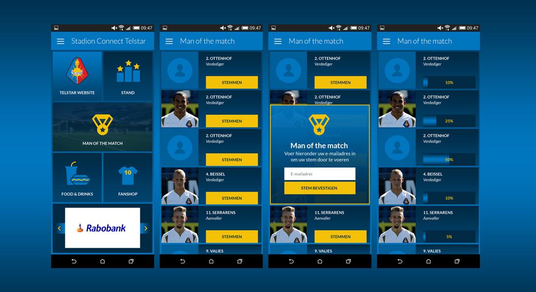 Bluetrace Stadion Connect App Telstar