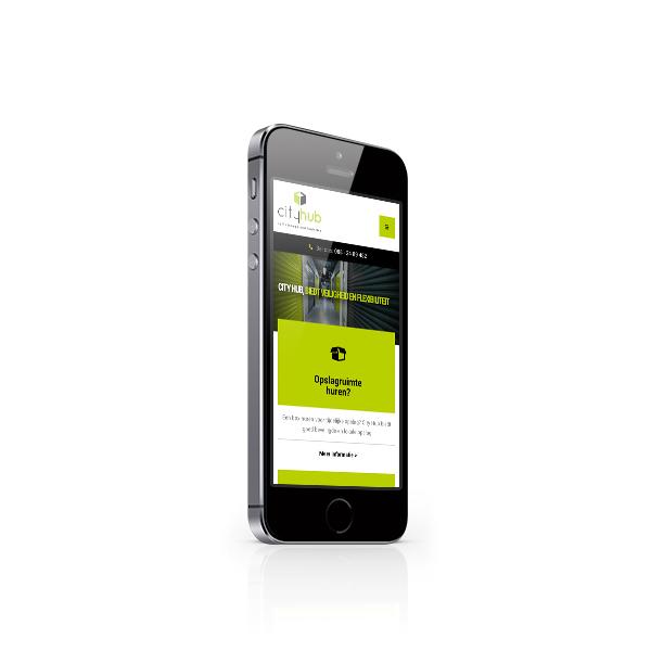 Responsive webdesign in een smartphone scherm