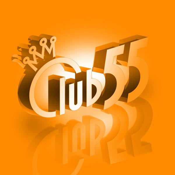Club 55 logo 3D oranje