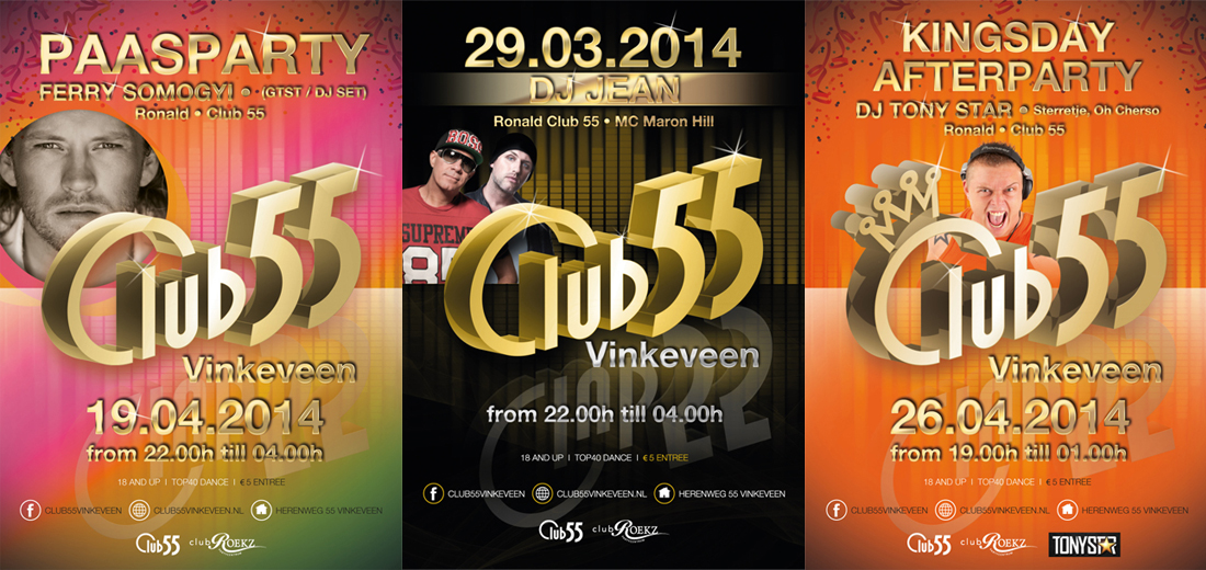 Club 55 posters
