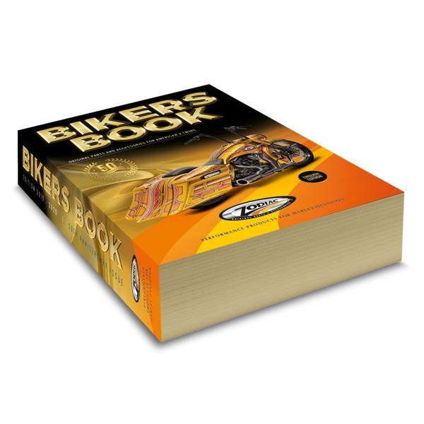 Dikke Bikersbook voor Zodiac met het jubileumlogo en gouden afwerking