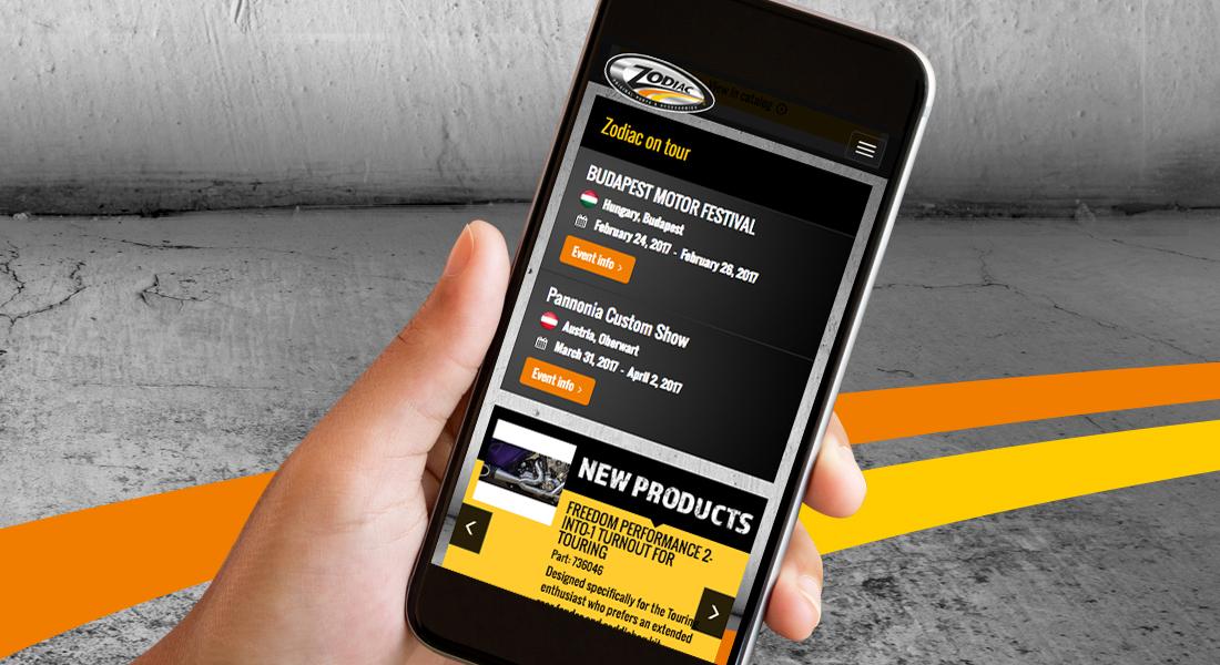 Zodiac smartphone website responsive