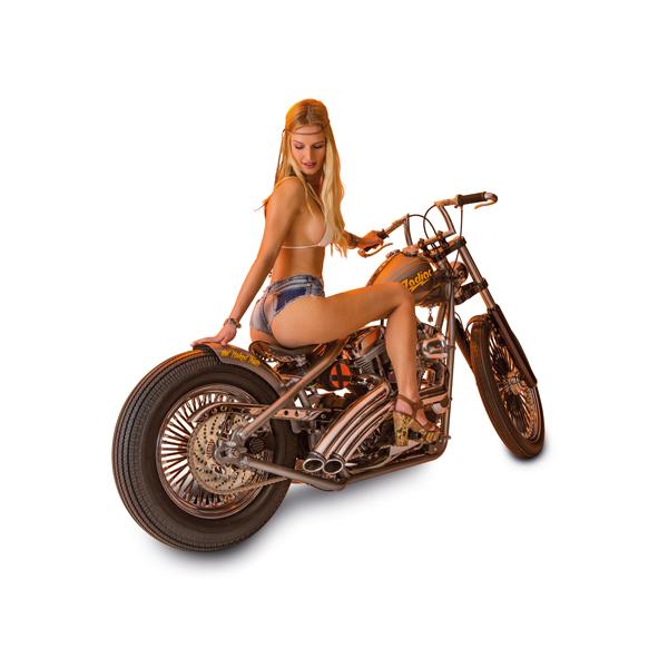Dame op motor voor de Zodiac Poster