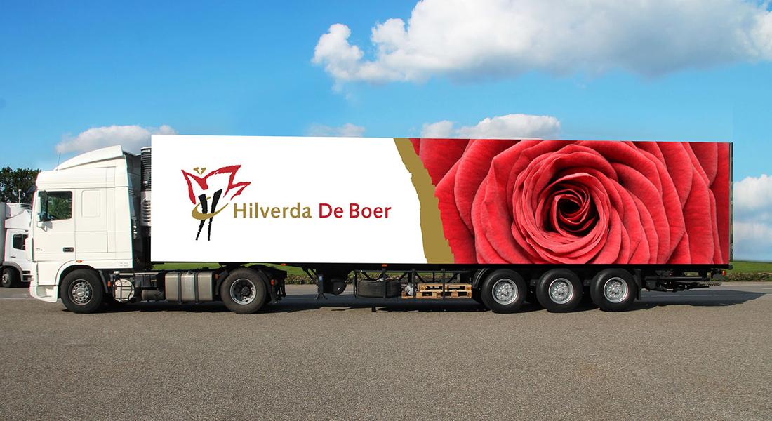 Ontwerp op vrachtwagen voor Hilverda De Boer