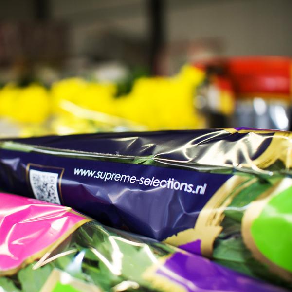 Plastic bloemverpakking van Supreme Selections bloemen