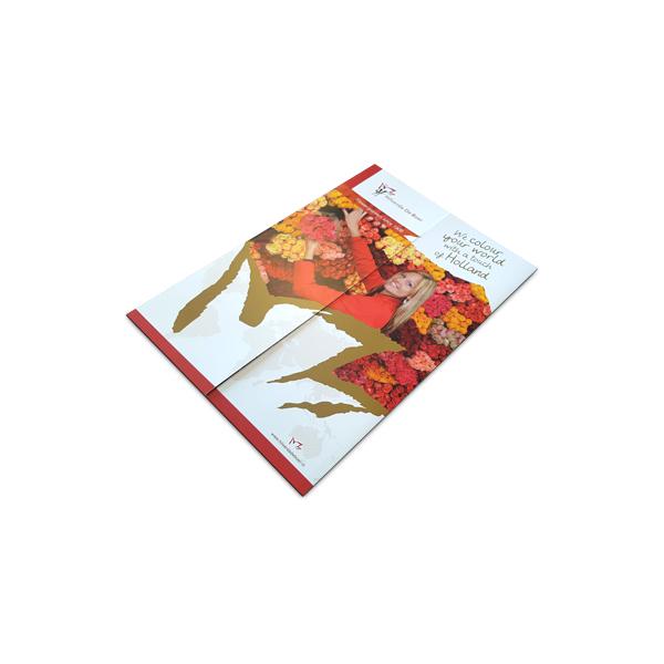 Dichtgevouwen folder voor onze klant Hilverda De Boer