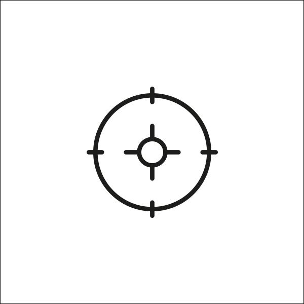Ontwerp van The Target, het beeldmerk van The Hunt campagne