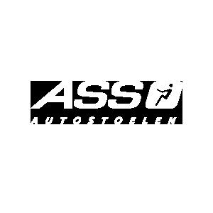 Wit logo ASS Autostoelen