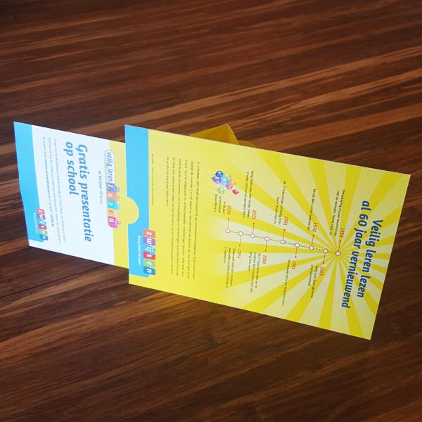 Achterkant van de feestelijke kaart voor Zwijssen