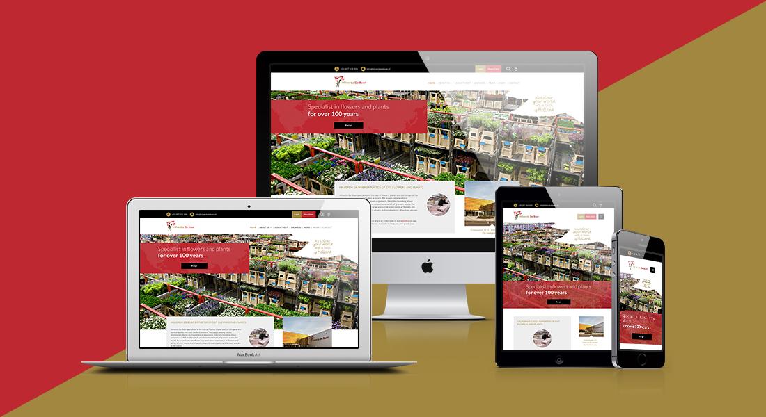 De website van Hilverda De Boer getoond op verschillende devices