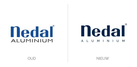 Switch Reclamebureau redesign logo Nedal Aluminium