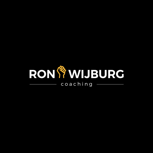 Ron Wijburg logo in diapositief