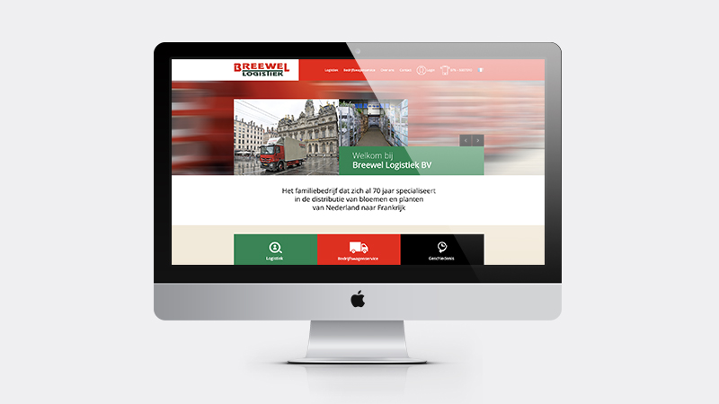 Design van de Breewel website