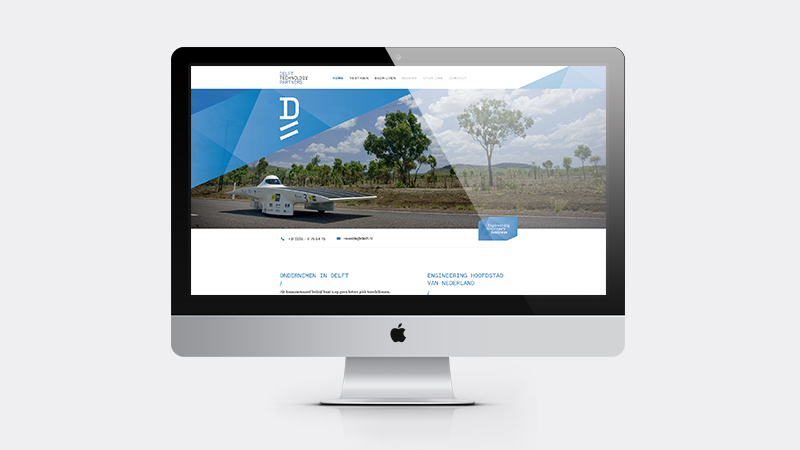 Webdesign voor de website van Delft Technology Partners
