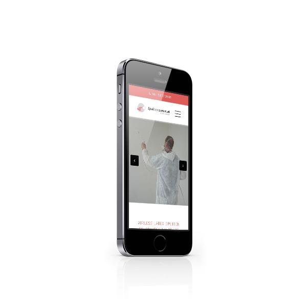 Spuitconcurrent website in een iPhone