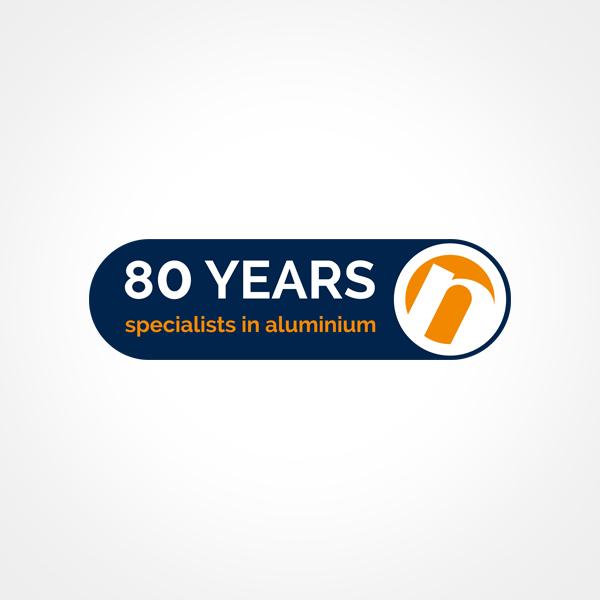Speciaal logo voor het 80 jarig bestaan van Nedal