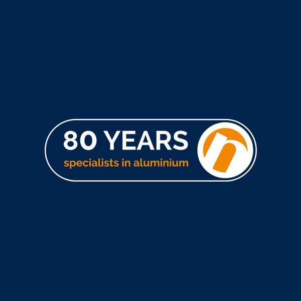 Speciaal ontworpen logo voor het 80-jarige jubileum van Nedal Aluminium