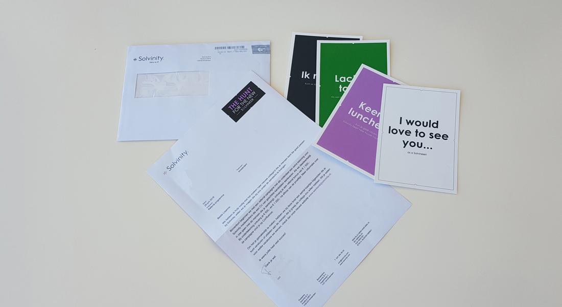 Brief en ansichtkaarten voor Solvinity Referral actie