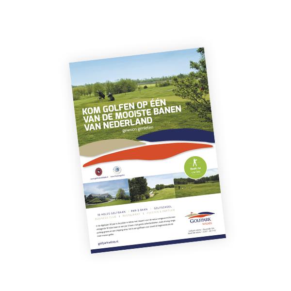 Flyer voor Golfpark Wilnis