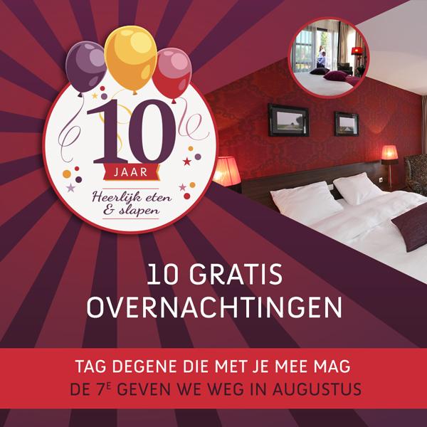 Facebook post voor gratis overnachting Hotel Mijdrecht