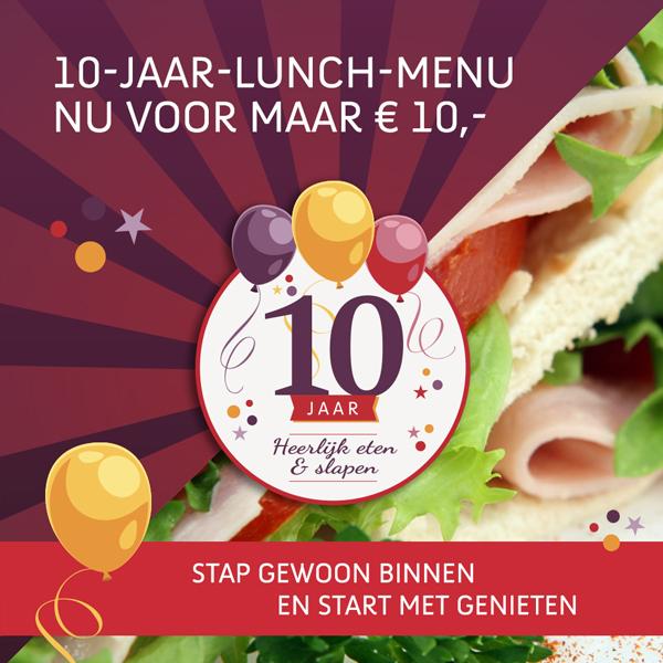 Social media post voor Facebook - Lunch voor maar 10 euro bij Hotel Mijdrecht