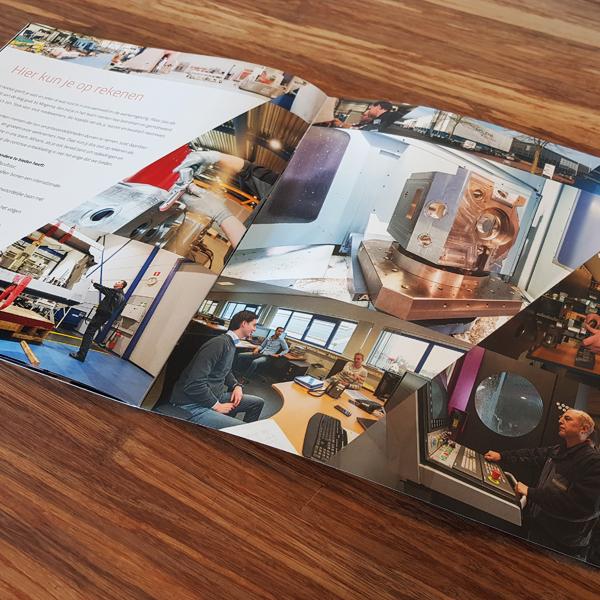 Diverse foto's van werken bij Mogema uit de wervende brochure