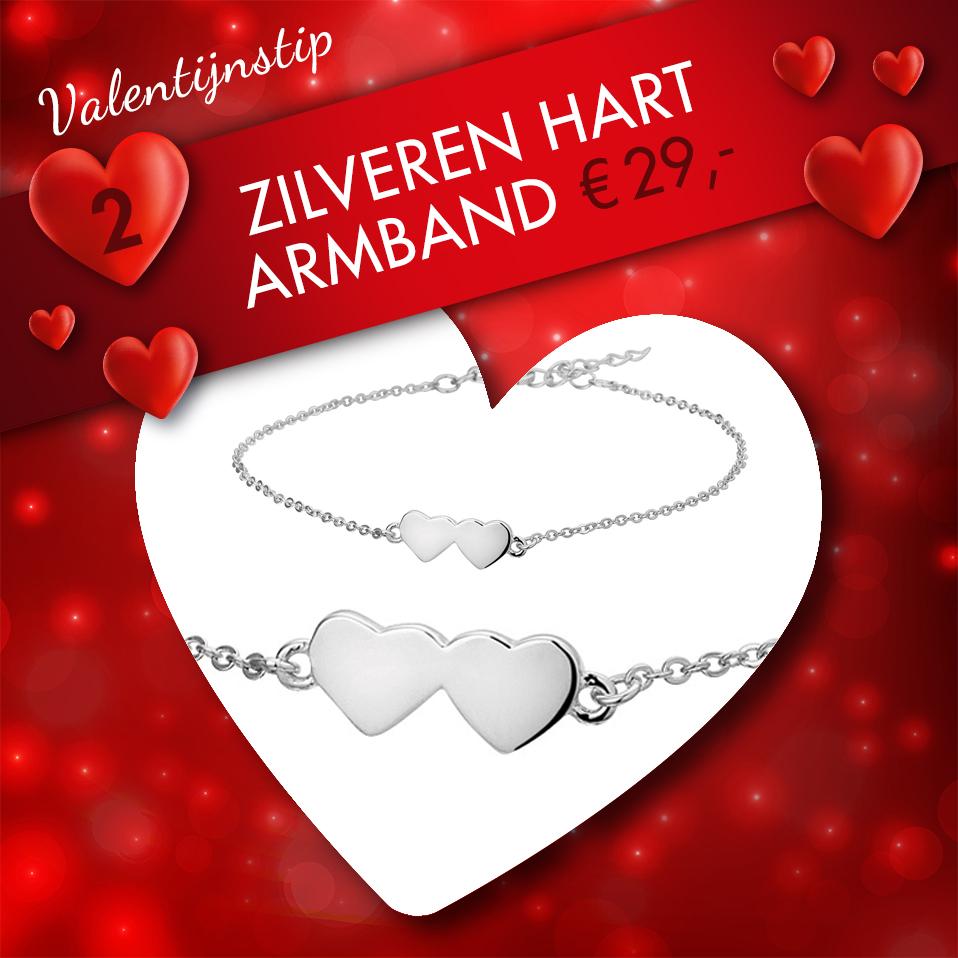 Zilveren hart valentijnsactie voor Swaab Juweliers