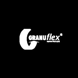 Granuflex vierkant logo - wit op transparant achtergrond