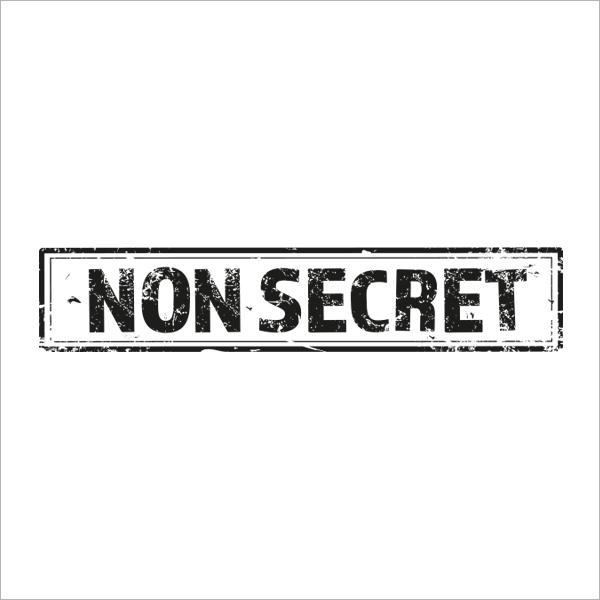 Zwart ontwerp voor 'Non-secret' stempel voor Solvinity
