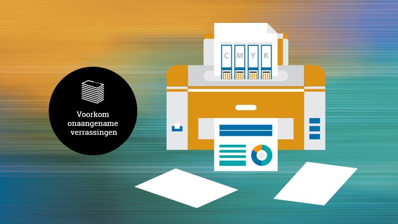 Illustratie van een printer waar drukwerk uit komt, lees snel verder waarom er drie redenen zijn om drukwerk uit te besteden