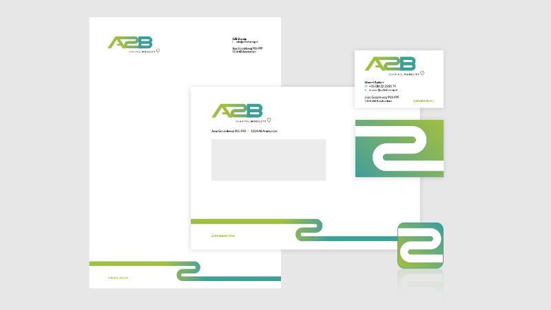 A2B Sharing mobility huisstijl