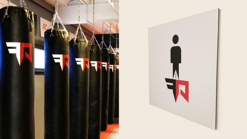 Fight Academy Voorbeeld herkenbaarheid logo