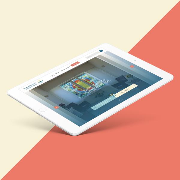 Foto hospitium in iPad scherm