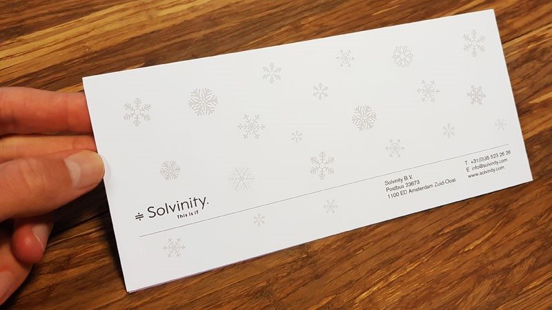 Solvinity kerstkaart