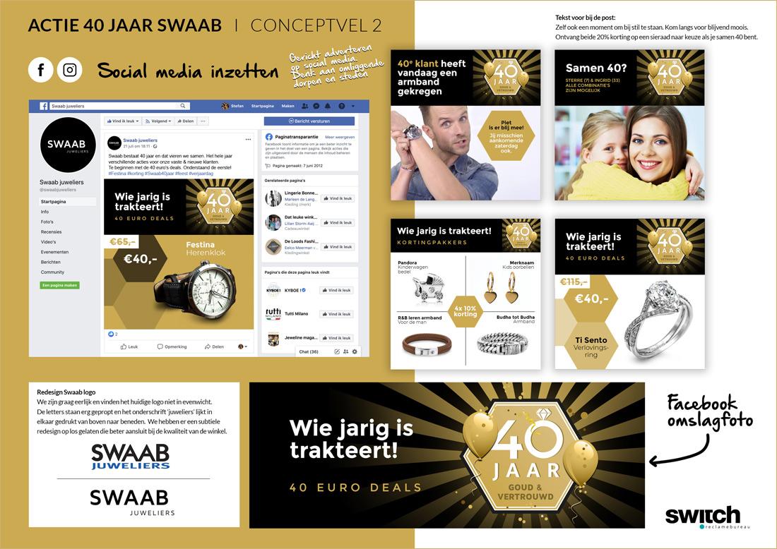 Swaab juwelier 40 jaar - conceptvel